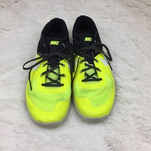 Neon Yellow Nike Flywire Shoes Size 11.5